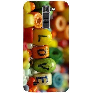 Casotec Colorful Love Design 3D Hard Back Case Cover for LG K7 gz8185-13077