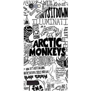 Casotec Arctic Monkeys Pattern Design 3D Hard Back Case Cover for Oppo Neo 7 gz8187-12286