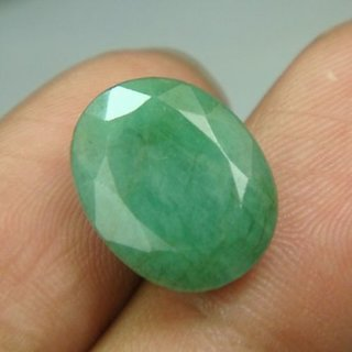 GEMS STONES BAZAR  7.5 Ratti Beautiful Emerald Panna Stone For Ring LAB TESTED