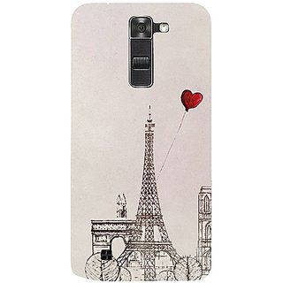 Casotec Paris Red Heart Design 3D Hard Back Case Cover for LG K10 gz8184-12063