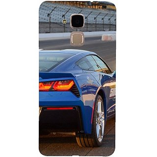 Casotec Car on Racing Track Design 3D Hard Back Case Cover for Huawei Honor 5c gz8188-11019
