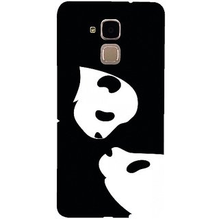 Casotec Panda Drawing Design 3D Hard Back Case Cover for Huawei Honor 5c gz8188-13587