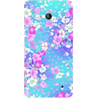 Casotec Floral Blue Pattern Design 3D Hard Back Case Cover for Microsoft Lumia 640 gz8190-12177