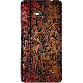 Casotec Dark Wooden Background Design 3D Hard Back Case Cover for Microsoft Lumia 640 gz8190-13529