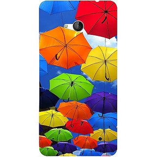 Casotec Colorful Umbrellas Design 3D Hard Back Case Cover for Microsoft Lumia 640 gz8190-11159