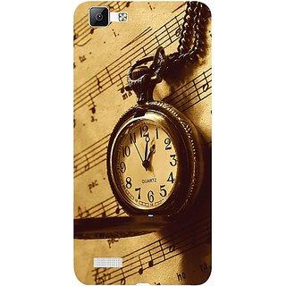 Casotec Pocket Watch Print Design 3D Hard Back Case Cover for Vivo V1 gz8191-11013