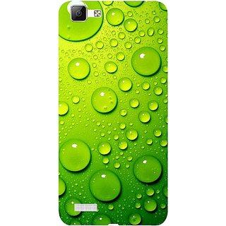 Casotec Green Bubbles Design 3D Hard Back Case Cover for Vivo V1 gz8191-13047