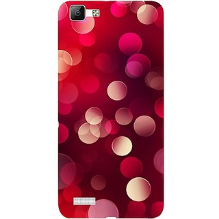 Casotec 3D Circles Design 3D Hard Back Case Cover for Vivo V1 gz8191-13516