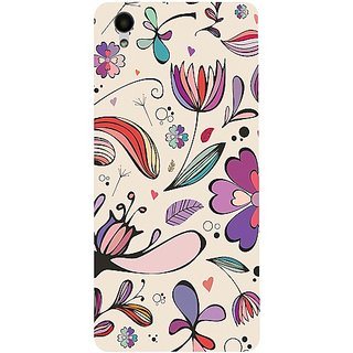Casotec Vintage Floral Design 3D Hard Back Case Cover for Vivo Y51L gz8192-12298