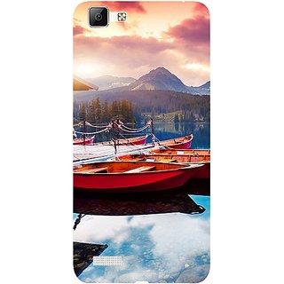Casotec Sunset Sea Design 3D Hard Back Case Cover for Vivo V1 gz8191-11155