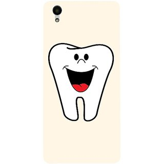 Casotec Smiling Tooth Design 3D Hard Back Case Cover for Vivo Y51L gz8192-14597