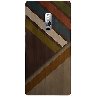 Casotec Wood Colorfull Pattern Design 3D Hard Back Case Cover for Oneplus 2 gz8193-12107