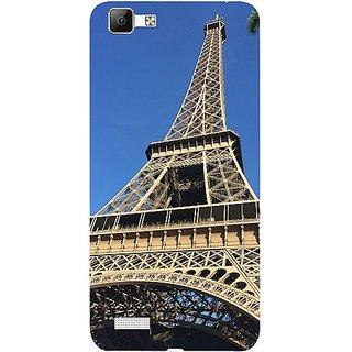 Casotec Eiffel Tower Design 3D Hard Back Case Cover for Vivo V1 gz8191-11003