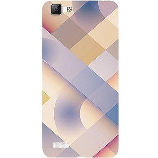 Casotec Striped Design 3D Hard Back Case Cover for Vivo V1 gz8191-12118
