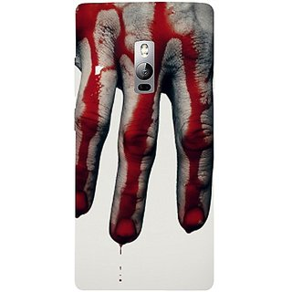 Casotec Hand Blood Brush Scary Design 3D Hard Back Case Cover for Oneplus 2 gz8193-11123