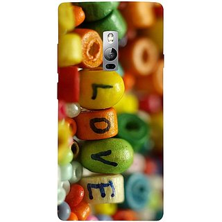 Casotec Colorful Love Design 3D Hard Back Case Cover for Oneplus 2 gz8193-13077
