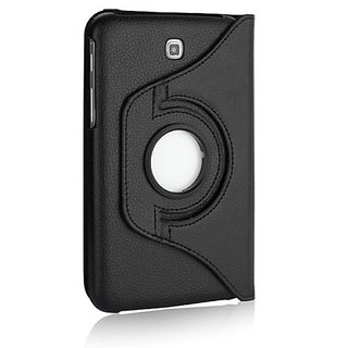 2010kharido 360°Rotating Case For Samsung Galaxy Tab3 7.0 P3200 Black