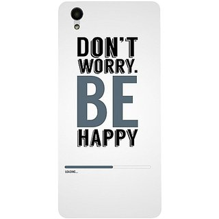 Casotec Dont Worry Be Happy Design 3D Hard Back Case Cover for Vivo Y51L gz8192-11193