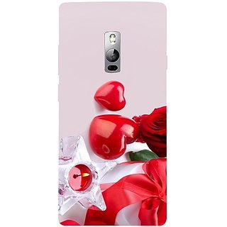 Casotec Valentines Day Gift Candle Heart Couple Rose Design 3D Hard Back Case Cover for Oneplus 2 gz8193-11173