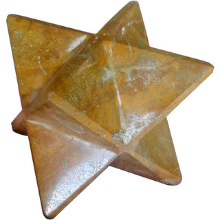 Camel Jasper Merkaba Star Large Crystal Sacred Geometry Reiki Point 8 Healing