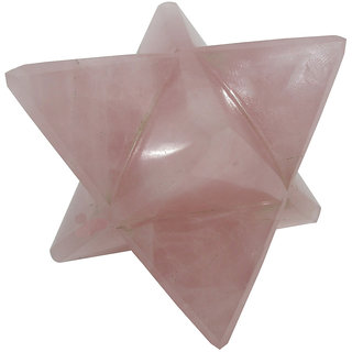 Rose Quartz Pink Merkaba Star Large Crystal Sacred Geometry Quartz Reiki Point 8 Healing