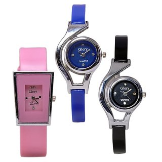 Women Fancy Party Combo Of 3 Watch For Gril