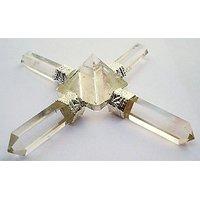 CLEAR QUARTZ Energy Generator Pyramid Healing (3.5 Inches) A+ Quality
