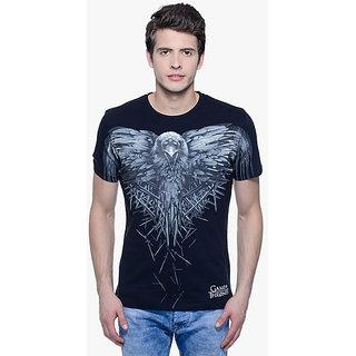 Radhey Men Printed T-Shirt Black