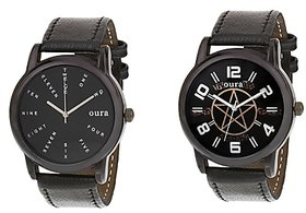 Oura-Co-253 Analog Round Casual Wear Watch For Men Pack