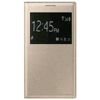 LeTv Le Le 1S Exclusive Leather Flip Gold  With Window And Stand
