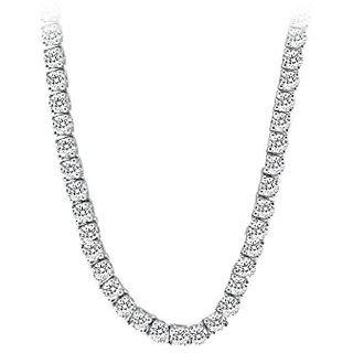 Cz Tennis Necklace In 14K White Gold 16.00.Ct.Tw