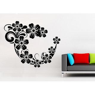 Wallskart  Swirl And Floral Mix Artwork Small Black Wall sticker