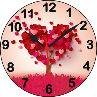 ske designer Analog MDF Hearth Love Round Wall Clock