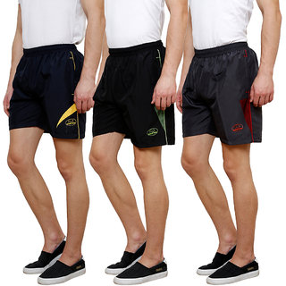 Grand Bear Men's Multicolor Shorts (Pack of 3)