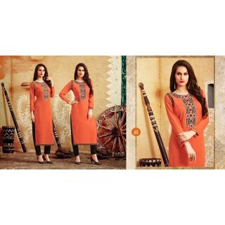 Georgette Embroidered Designer Kurti