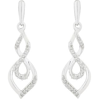 Silvosky Charming Rhodium Plated Silver Drop Earring SE2054