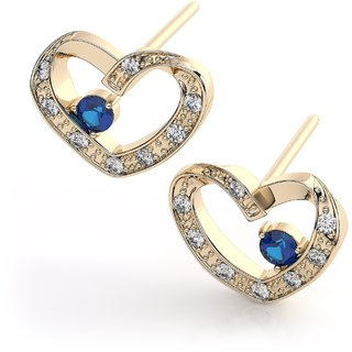 Silvosky Charming Yellow Gold Plated Silver Stud Earring SE2069