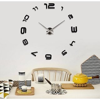 Tuzech Big Wall Clock ( Number Series) For Hotels / Restaurants / Schools / Home etc Black
