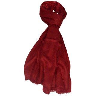 Sofias Exclusive Pure 100  Cashmere SELF JACQUARD WOVEN Medium Size ( 70 x 200 cms ) Shawl,Color-Maroon emzsofiascashjaq4