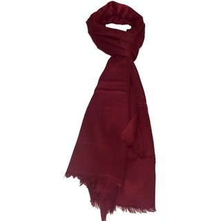 Sofias Exclusive Pure 100  Cashmere Plain Medium Size ( 70 x 200 cms ) Shawl,Color-Maroon emzsofiascashpl10