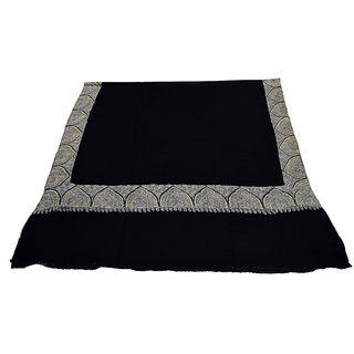 Sofias Exclusive Pure Cashmere Hand Made and Hand Embrodiere Large Shawl (100 cms x 200 cms) Black emzsscashmeresh17