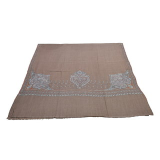 Sofias Exclusive Pure Cashmere Hand Made and Hand Embrodiere Large Shawl (100 cms x 200 cms) Brown emzsscashmeresh26