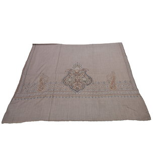 Sofias Exclusive Pure Cashmere Hand Made and Hand Embrodiere Large Shawl (100 cms x 200 cms) Natural Brown emzsscashmeresh32