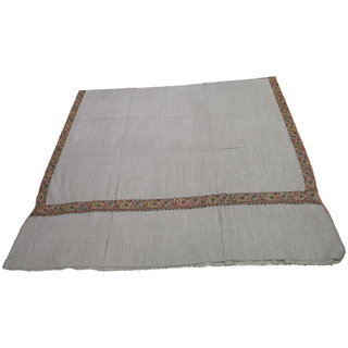 Sofias Exclusive Pure Cashmere Hand Made and Hand Embrodiere Large Shawl (100 cms x 200 cms) Natural Brown emzsscashmeresh38