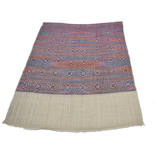 Sofias Exclusive Pure 100 Pashmina Hand Made and Hand Woven Medium Shawl (70 cms x 200 cms) Natural - Multi Color emzsspashminast100