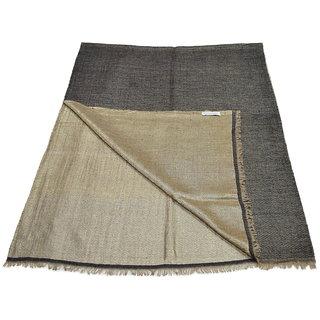 Sofias Stunning Pure 100 Pashmina with Zari Threads - REVERSIBLE - Hand Made Medium Shawl (70 cms x 200 cms) Black - Gold emzsspashminast83