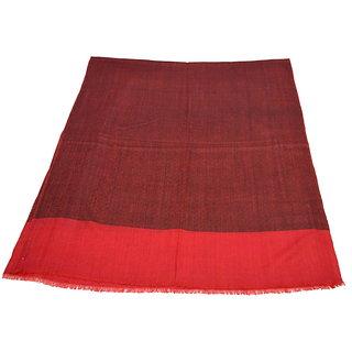 Sofias Exclusive Pure 100 Pashmina Hand Made and Hand Woven Medium Shawl (70 cms x 200 cms) Black - Red emzsspashminast89