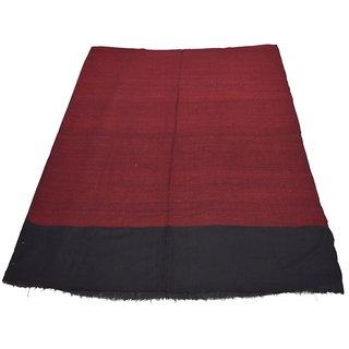 Sofias Exclusive Pure 100 Pashmina Hand Made and Hand Woven Medium Shawl (70 cms x 200 cms) Black - Maroon emzsspashminast92