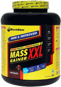 MuscleBlaze Mass Gainer XXL with Complex Carbs and Proteins in 3:1 ratio 6.6 lb (Chocolate)