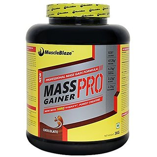 MuscleBlaze Mass Gainer Pro (3 Kg, Chocolate)